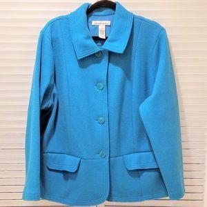 Spectacular Turquoise Wool Felt Jacket
